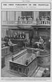 The first parliament of the Transvaal, swearing in the Members