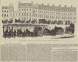 The funeral of the late Mr William Beckford, leaving his house in Lansdowne Crescent, Bath