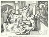 Peter's Denial of Christ, St Luke, ch xxii, ver 55, 56