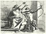 King Joash shooting the Arrow of Deliverance