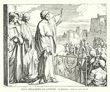 Paul Preaching at Antioch, Acts, ch xvii, ver 22