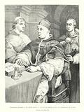 Raphael Sanzio, Le Pape Leon X, Jules de Medicis et le Cardinal de Rossi, Collection du Palais Pitti