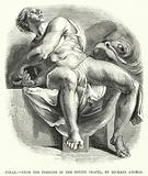 Jonah, from the Frescoes in the Sistine Chapel, by Michael Angelo
