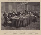 La Commune de Paris, Salle Du Conseil Des Ministres, A Versailles, Conseil Des Ministres Preside Par M Thiers, A …