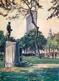 "Admiral Farragut Statue, Madison Square, ""Flatiron"" Building in the distance"