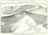 Facsimile of a View of Edinburgh in 1544, the Army of the Earl of Hertford approaching the City by the Calton Hill and …