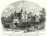 Holyrood Palace, the Regent Moray's House, adjoining the Palace, on the North, the Royal Gardens, and Ancient Horologe