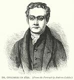 Dr Chalmers in 1821