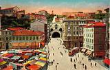 Trieste, Piazza Goldoni e Traforo di Montuzza