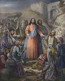 Christ healing the multitude