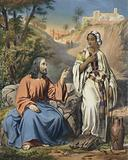 Christ and the woman of Samaria at Jacob's Well