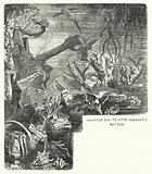 Beowulf fights with Grendel's mother
