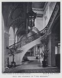"""Hall and Stairway in """"The Breakers"""""""