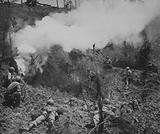 Marines Smoke Out Japs from a Cave at Naha, Okinawa