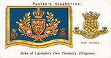 Drum Banners and Cap Badges, Duke of Lancaster's Own Yeomanry, Dragoons