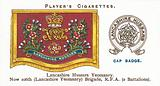 Drum Banners and Cap Badges, Lancashire Hussars Yeomanry, Now 106th (Lancashire Yeomanry) Brigade, RFA, 2 Battalions