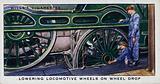 Railway Equipment: Lowering locomotive wheels on wheel drop, London and North Eastern Railway