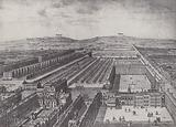 Bird's-Eye View of Gray's Inn about 1750