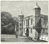 Charlecote Gate, the Seat of the Lucys, where Shakespeare was charged with Deer-Stealing
