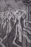 Peeresses putting on their coronets at the coronation of Queen Alexandra, Consort of King Edward VII, Westminster Abbey, London, 1902