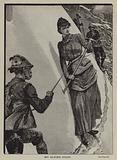 My Alpine staff: a woman mountaineer