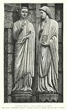 The Archangel Gabriel and the Virgin, sculpture from Amiens Cathedral, France, 13th Century