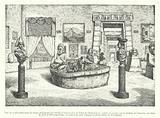Inca exhibits in the Peruvian Hall in the Palais de l'Industrie, Paris, 1877