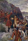 General Wolfe landing at the foot of the Heights of Abraham, Quebec, 1759