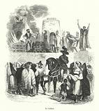 Execution of convicted heretics by roasting in an oven under the Inquisition