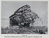 Building damaged by the explosion of the atom bomb dropped on Hiroshima, Japan, World War II, 1945