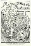 Scene from Sebastian Brant's satirical allegory Ship of Fools