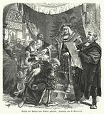 Ulrich von Hutten being crowned Poet Laureate by the Holy Roman Emperor Maximilian I, 1517