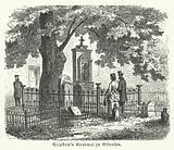 Grave of the German poet Friedrich Gottlieb Klopstock, Ottensen, Hamburg
