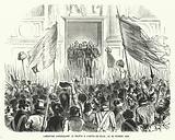 Alphonse de Lamartine addressing the people outside the Hotel de Ville, Paris, 26 February 1848