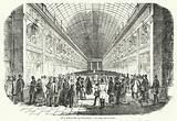The choir of Girondins in the shopping arcade of the Palais-Royal, Paris