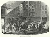 Newspaper market, Rue Montmartre, Paris