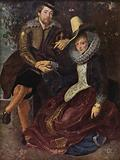 Self-portrait of Peter Paul Rubens with his first wife, Isabella Brant