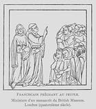 Franciscan monks preaching to the populace
