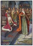 The Royal Poet at the coronation of King Alexander III of Scotland, Scone, 1249