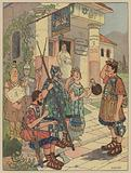 Patrol from a Roman legion outside a Gaulish inn in Alsace