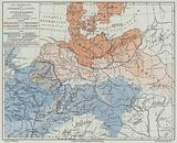 Distribution of the Germans and Celts in Central Europe, c500–50 BC