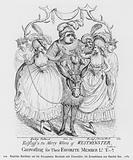 Falstaff and the Merry Wives of Westminster Canvassing for Their Favourite Member Ld T-d, 1784