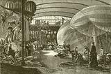 Balloon factory at Paris