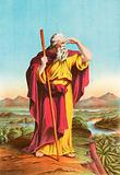 Moses viewing the promised land