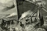 Fishing-smack run down by an ocean steamer