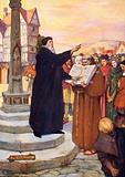 John Wyclif preaching