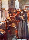 Nobles visiting William Caxton's printing shop