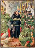 The abbot of Saint Maries taken by Robin Hood