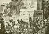 Sacrificing human victims to Baal