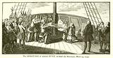 The shooting of Admiral Byng, on board the Monarque, 14 March 1757